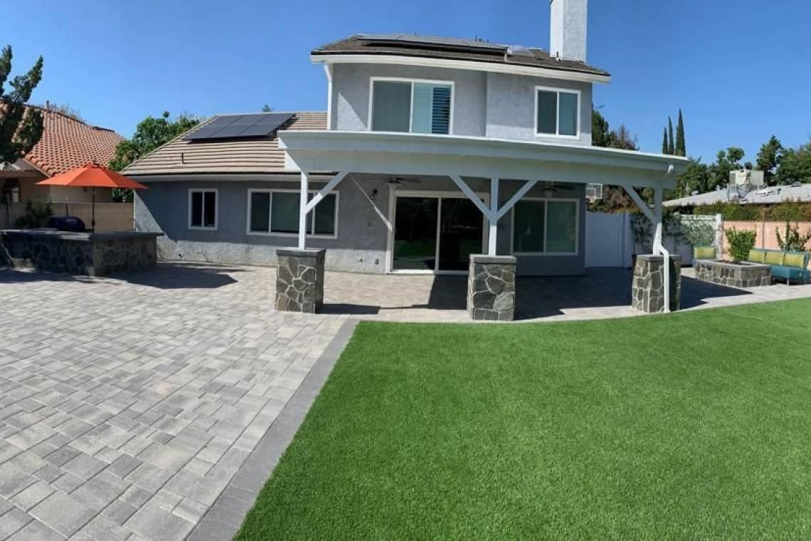 Backyard Renovation-Patio cover-pavers-Thousand Oaks - 1 ... on Backyard Renovation Companies id=13009