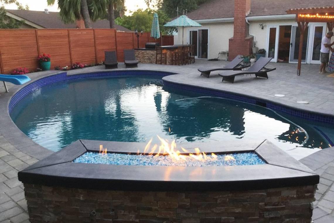 Backyard makeover-pool-spa-Thousand Oaks | Remodeling ...